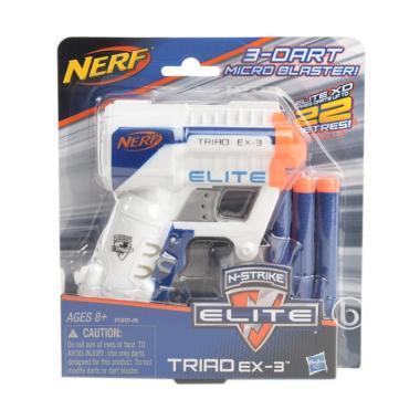 Nerf A3845 N-Strike Elite Triad EX-3 Mainan Anak