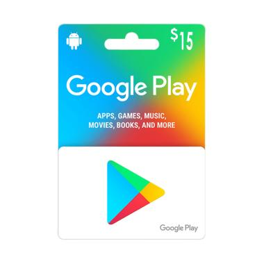 harga Google Play Gift Card Voucher Code [USD 15] Blibli.com