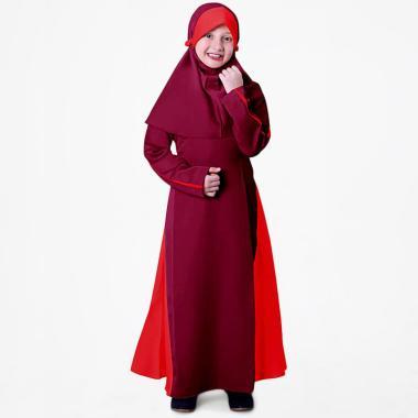 BajuYuli Balotelli Garis Baju Gamis Muslim Anak Perempuan