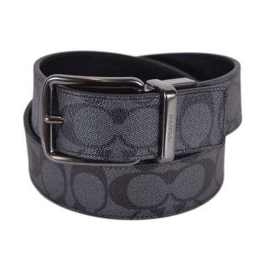 Coach Men's Signature Reversible Large Belt Tali Pinggang Pria - Black