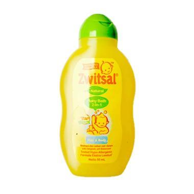 Zwitsal Natural Baby Bath 2in1 Hair & Body botol [50 ...