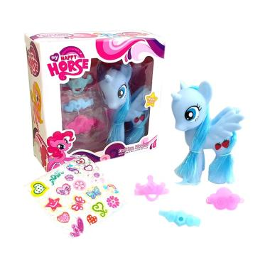 HMC My Happy Horse Kuda pony Set Boneka - Blue 172d442944