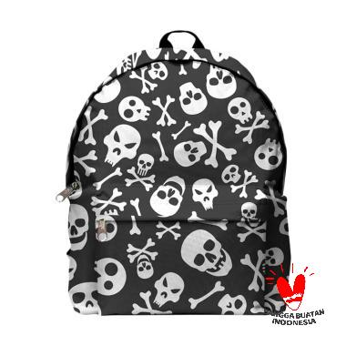 Fika Store Skull Art 2 Backpack Tas Ransel Pria 8b66889b51