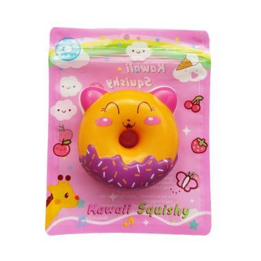 Squishy Sweet Animal Donut Yellow Cat Mainan Anak