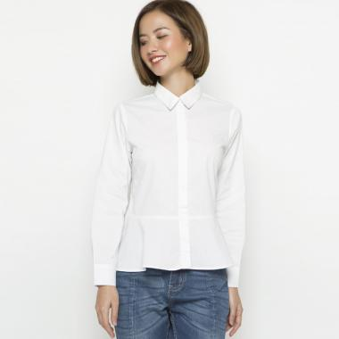 Minimal Pelum Deblanco Kemeja Wanita - White