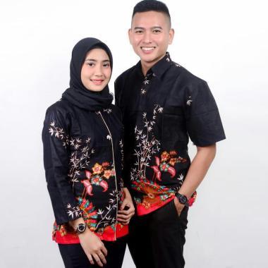 harga King Projo Motif Kipas Merah Baju Batik Couple Blibli.com