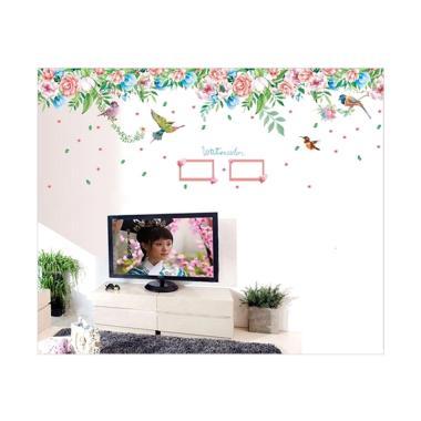 oem oem sk 9052 salur rose frame wall sticker  60 x 90 cm  full02