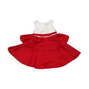 harga VERINA BABY Brukat Variasi Flower Dress Pesta Anak - Red White 3 tahun Red White Blibli.com