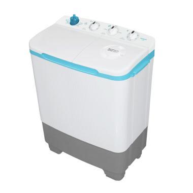 Sanken TW-8600WH Twin Tub Washing Machine - White Blue (Tosca) [7 kg]