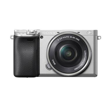 harga SONY Alpha A6400 Kit 16-50mm Kamera Mirrorless - Silver Blibli.com