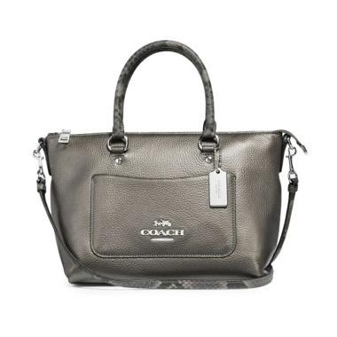 5be2d86bcebd Coach Mini Emma Women's Satchel Bag - Gunmetal