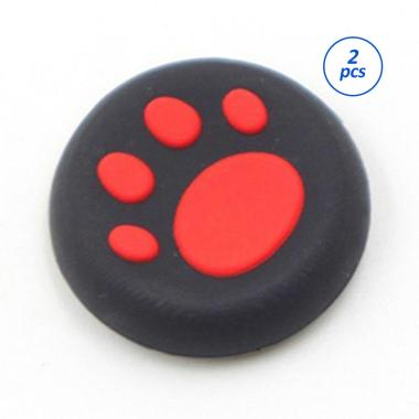 harga FS - Bluelans Cartoon Silicone Catlike Thumb Stick Grip Cap for PS3 PS4 Xbox One-360 - Red [2 pcs] Blibli.com