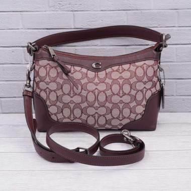 54c39f2c5a8 Coach Small Ivie Signature Shoulder Bag Wanita