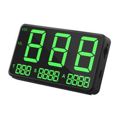 harga Bluelans Car GPS Speedometer HUD MPH KM/h Digital Speed Display Overspeed Warning Monitor Blibli.com