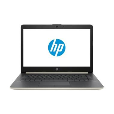 harga HP 14s-cf1047TU Notebook - Gold [Intel Celeron N4205U/4GB/1TB/UMA/14inch/Win10] Blibli.com