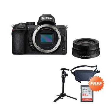 harga Pre Order - Nikon Z 50 Mirrorless Digital Camera with 16-50mm Lens + Free Sandisk 64GB + Sirui Tripod + Tas Blibli.com