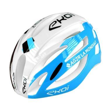 Jual EKOI AR13 Helmet White Blue Murah Februari 2020