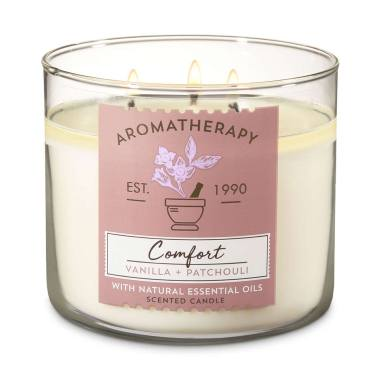 harga Bath and Body Works BBW Comfort Aromatherapy 3 Wick Candle - Vanilla Patchouli Blibli.com
