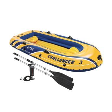harga Intex Challenger 3 Perahu Karet [3 Boat Seats/ 255 Kg/  Original] Blibli.com