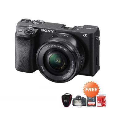 SONY Alpha A6400 Kit 16-50mm Kamera Mirrorless + Free ScreenGuard + Tas Kamera + Memori 16GB + Cleaning Kit -