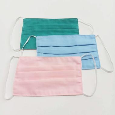 Eve Maternity 2ply Isi Tissue Karet Telinga Motif Polos Bahan Katun Jepang Masker Kain [Random Warna]