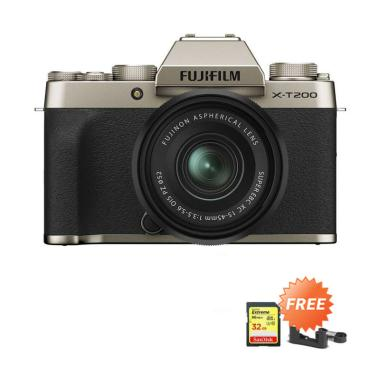 harga Fujifilm X-T200 KIT [15-45 mm] + Free Sandisk SDHC [32 GB] & Lather Case X-T200 [By Claim] Champinge Gold Blibli.com