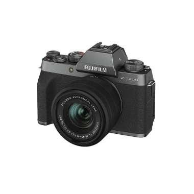 harga JKLensa Kamera Fujifilm XT200 X-T200 Fuji XT200 X-T200 kit 15-45 mm + Free Sandisk SDHC 16GB Kamera Mirrorless Garansi Resmi DARK SILVER Blibli.com