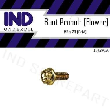 harga IND Onderdil M8x20-8x20-8x20 Kunci 12 Baut Probolt Flower Blibli.com