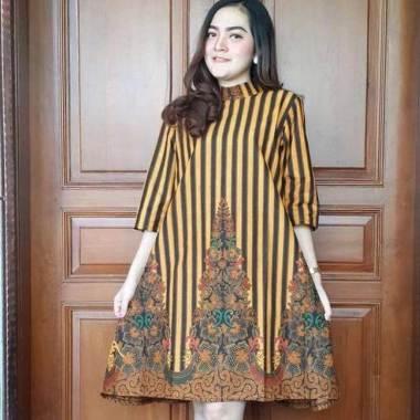 Batik Sri Lurik Gunungan Dress Batik Wanita