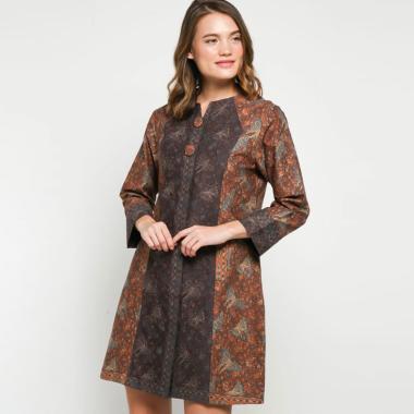 Andelly Batik 02 16 Dress Panjang Wanita - Brown