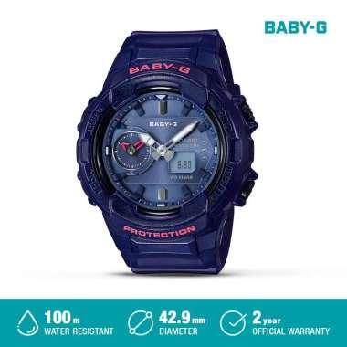 CASIO Baby-G LED BGA-230S-4ADR / BGA-230S-2ADR / BGA-230S-3ADR Jam Tangan Analog Wanita [Original] NAVY