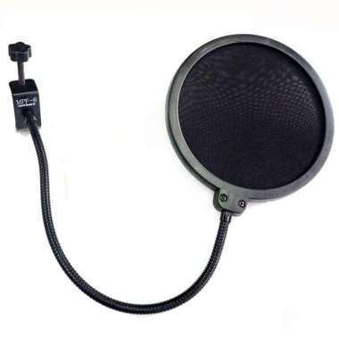 harga TaffSTUDIO Pop Shield Filter Mikrofon Dual Layer BOP - MPF-6 - Black Blibli.com