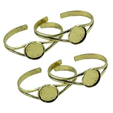 harga 4pcs Adjustable Ring Base Blanks with 20mm Cabochon Glue on Pad Handcrafts - Blibli.com