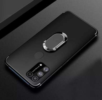 harga CASE SAMSUNG A21S BLACK RING CASING SILIKON SOFT CASE COVER HANDPHONE - HITAM Samsung Galaxy A21S Blibli.com