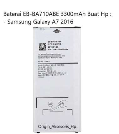 harga Original Baterai EB-BA710ABE Buat Handphone Samsung Galaxy A7 2016 Blibli.com