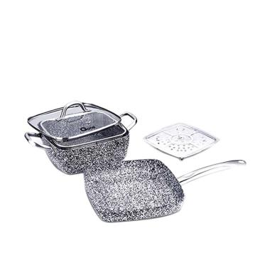 Oxone OX-05SQ Granite Cookware Set [5 Pcs]