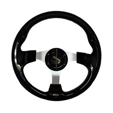 R4 Momo Racing Setir Mobil Modifikasi - Black [13 Inch]
