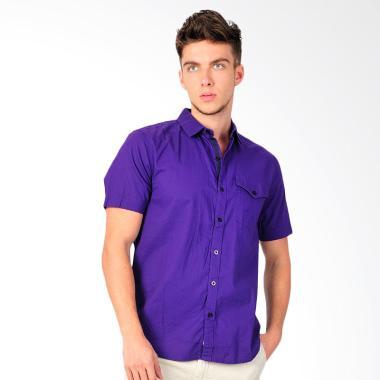 SJO & SIMPAPLY New Tanaska Men's Shirt Kemeja Pria - Violet