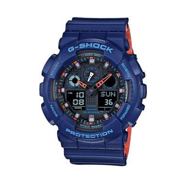 CASIO G-SHOCK GA-100L-2A Jam Tangan Pria - Blue Orange