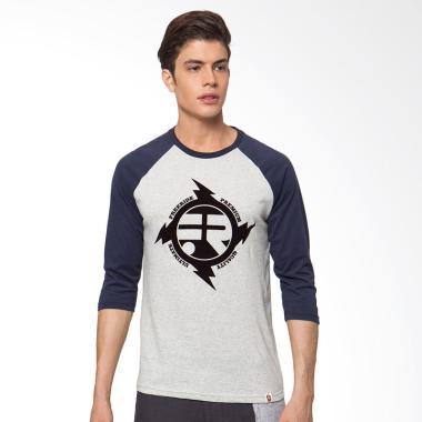 Freeride Ultimate Thunderbolt Raglan T-Shirt Kaos Pria