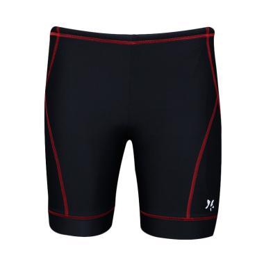 Lasona CRP-810-L4 Celana Renang Pria - Hitam Merah