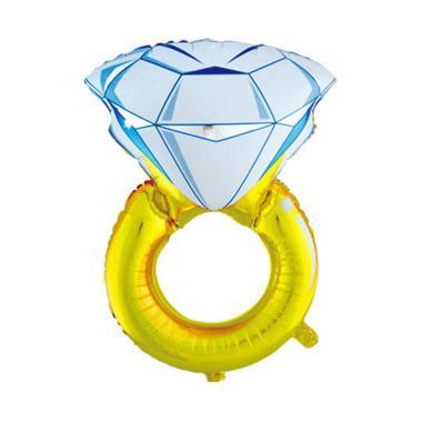 SJQ Cincin Diamond Balon Foil Dekorasi Pesta