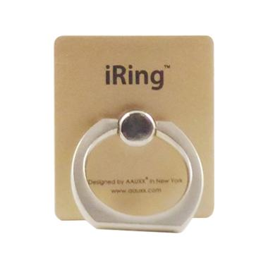 Delcell iRing Smartphone Holder Stand Ring - Gold