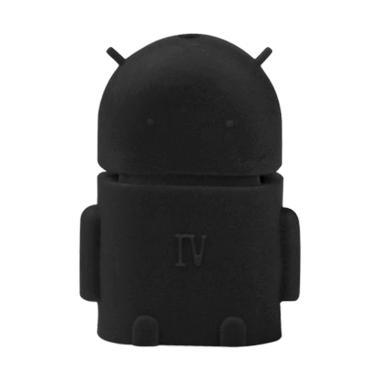 OTG Adaptor Micro USB Bentuk Android - Hitam