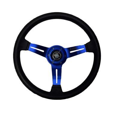 R4 Nardi MOMO Racing Setir Mobil Modifikasi - Blue [14 Inch]