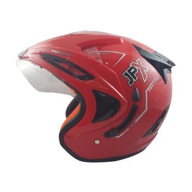 JPX Supreme Solid Helm Half Face - Red Ferrari