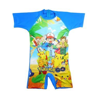 Nice Motif Pokemon Baju Renang Anak - Biru Muda