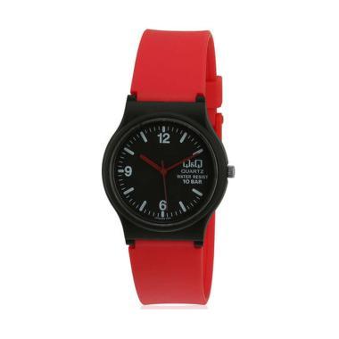 Q&Q QQ025 BR Jam Tangan Wanita - Black Red