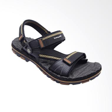 Homyped Merbabu Sandal Pria - Black Brown 02