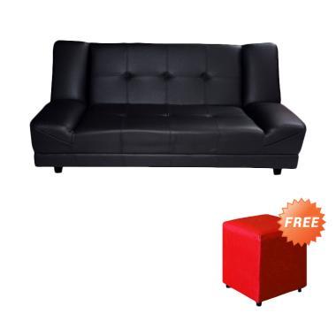 FCENTER Sofa Bed LANTANA Hitam + FREE PUFF [ JABODETABEK]